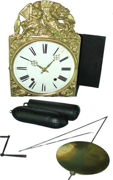 poids horloge comtoise